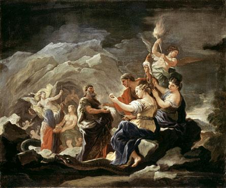 Luca Giordano Cave of Eternity 1680s