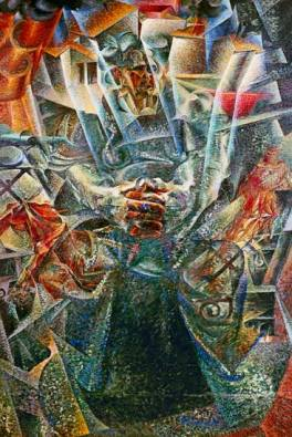 Materia and Dynamism of a Cyclist by Boccioni
