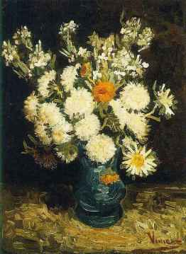 Vangough Flowers in a blue  vase