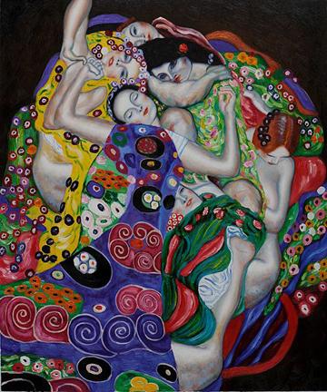 360 The Virgin Oil Painting by Gustav Klimt