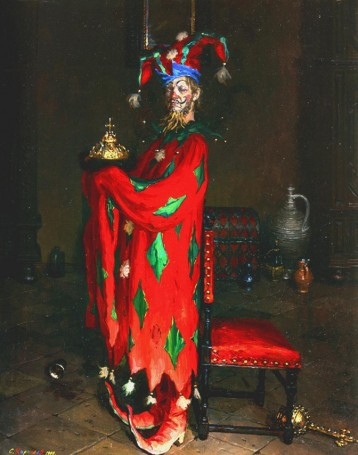 sergei-kirillov-a-jester-with-the-crown-of-monomakh-1999