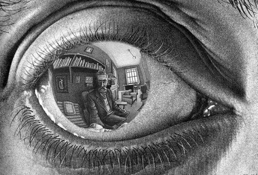 MC Escher Eye Reflection