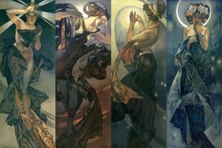 Alphonse Mucha Moon