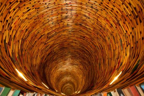 Infinite Book Tunnel