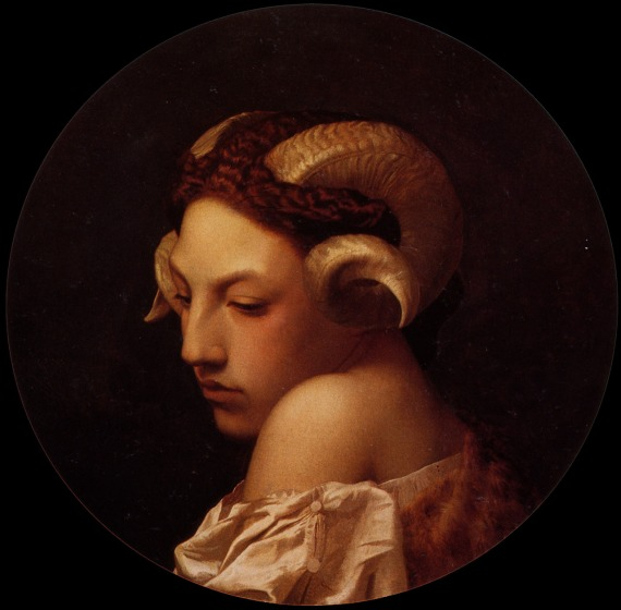 Study of a woman with ram horns, Jean-Léon Gérôme