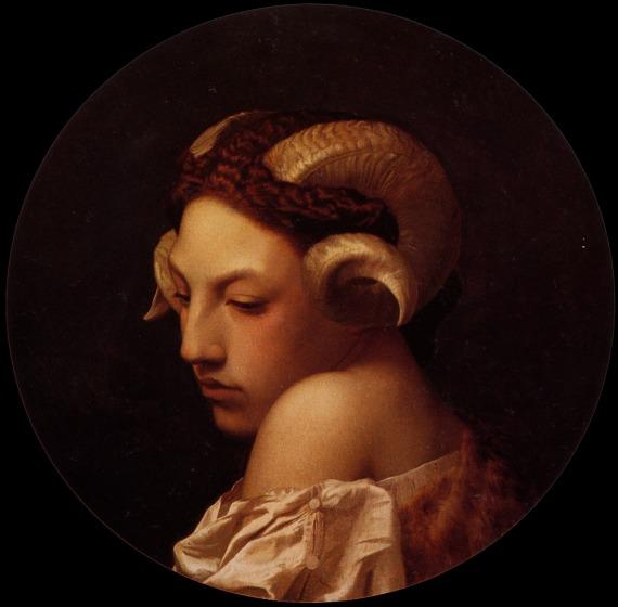 Study of a woman with ram horns, Jean-Léon Gérôme