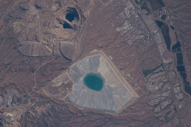 Mining operations near Green Valley, Arizona. (NASA)