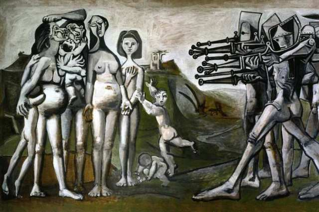 Pablo-Picasso-Massacre-In-Korea-1951